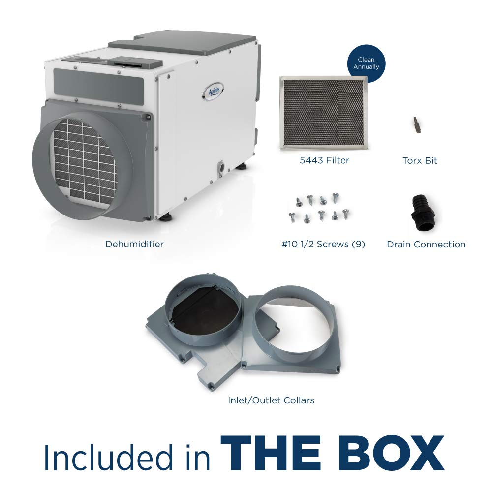 Aprilaire 1820 Dehumidifier included in the box