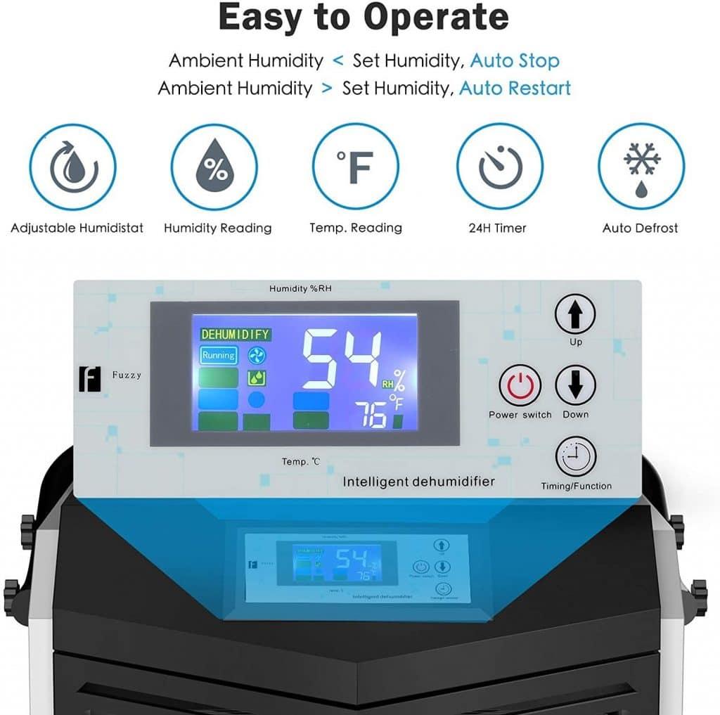 Colzer 232 PPD Commercial Dehumidifier digital controls