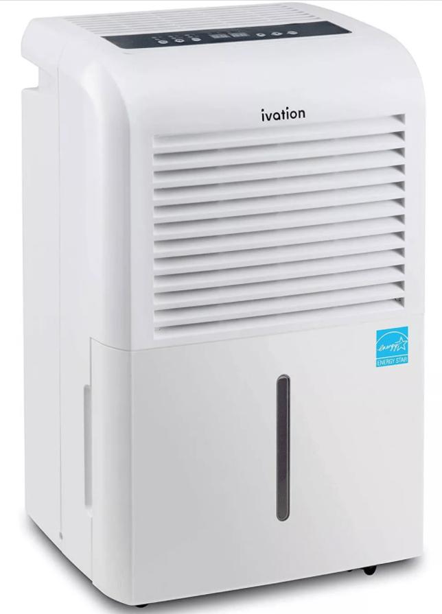 Ivation IVAESDH50P Quietest Dehumidifier
