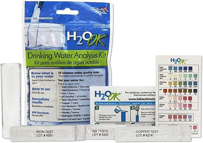 Mosser Lee LT5010-6 H2O Ok Water Test Kit