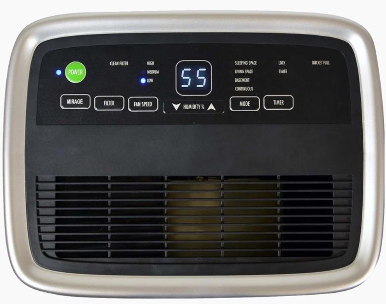 Soleus Air 25-Pint Dehumidifier Control Panel