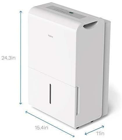 hOmeLabs 35-pint Dehumidifier size illustration